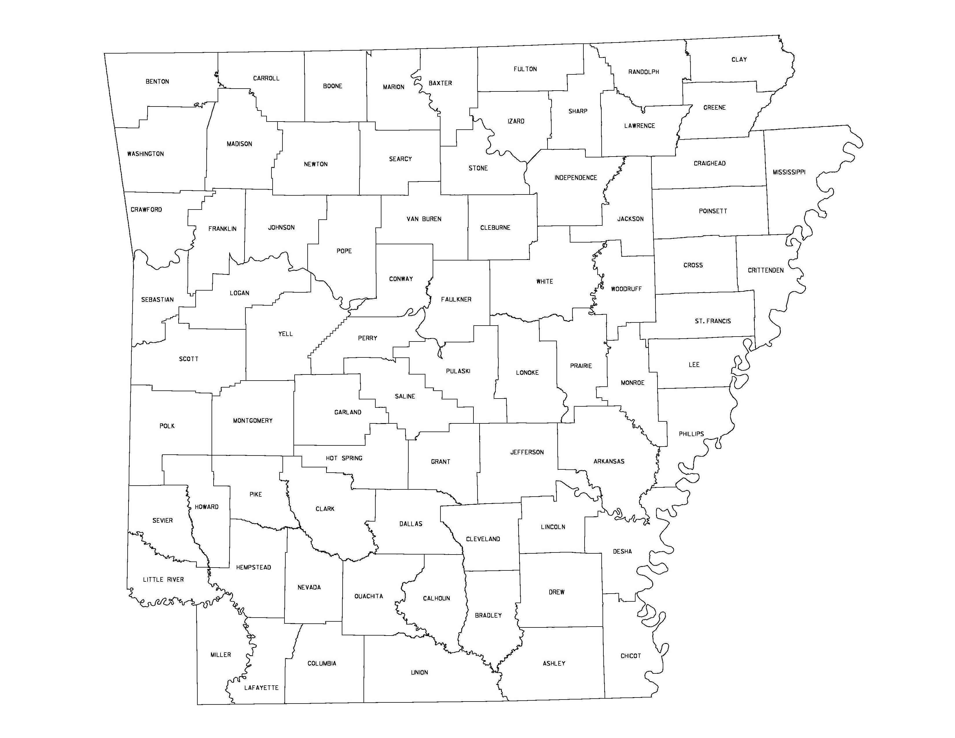 Arkansas Outline Maps And Map Links - Map of us arkansas